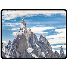 Cerro Torre Parque Nacional Los Glaciares  Argentina Double Sided Fleece Blanket (Large)
