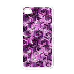 Pattern Factory 23 Pink Apple iPhone 4 Case (White)
