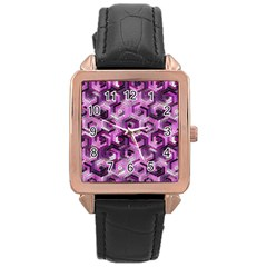 Pattern Factory 23 Pink Rose Gold Leather Watch