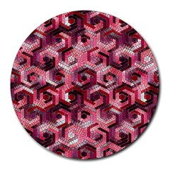 Pattern Factory 23 Red Round Mousepads