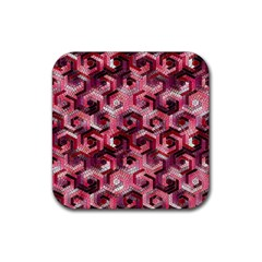Pattern Factory 23 Red Rubber Coaster (Square)