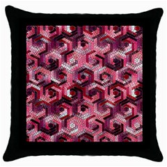 Pattern Factory 23 Red Throw Pillow Case (Black)