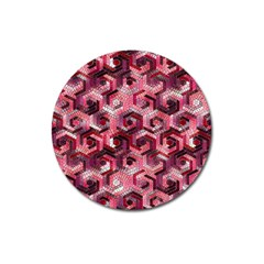 Pattern Factory 23 Red Magnet 3  (Round)