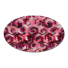 Pattern Factory 23 Red Oval Magnet