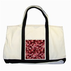 Pattern Factory 23 Red Two Tone Tote Bag
