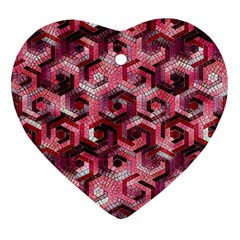 Pattern Factory 23 Red Heart Ornament (Two Sides)