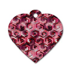 Pattern Factory 23 Red Dog Tag Heart (One Side)