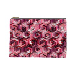 Pattern Factory 23 Red Cosmetic Bag (Large)