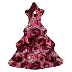 Pattern Factory 23 Red Christmas Tree Ornament (Two Sides)