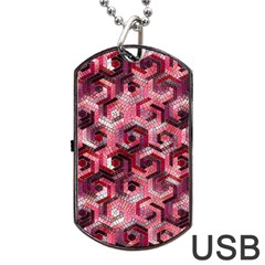 Pattern Factory 23 Red Dog Tag USB Flash (One Side)