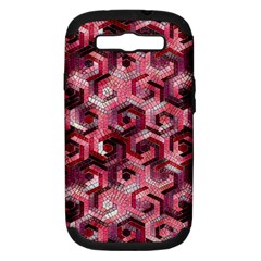 Pattern Factory 23 Red Samsung Galaxy S III Hardshell Case (PC+Silicone)