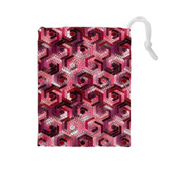 Pattern Factory 23 Red Drawstring Pouches (Large)