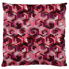 Pattern Factory 23 Red Large Flano Cushion Case (One Side)