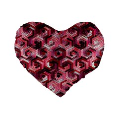Pattern Factory 23 Red Standard 16  Premium Flano Heart Shape Cushions