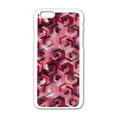 Pattern Factory 23 Red Apple iPhone 6/6S White Enamel Case