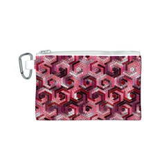 Pattern Factory 23 Red Canvas Cosmetic Bag (S)