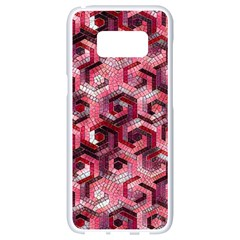 Pattern Factory 23 Red Samsung Galaxy S8 White Seamless Case