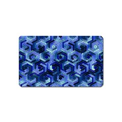 Pattern Factory 23 Blue Magnet (Name Card)