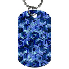 Pattern Factory 23 Blue Dog Tag (Two Sides)