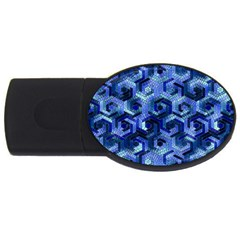 Pattern Factory 23 Blue USB Flash Drive Oval (2 GB)