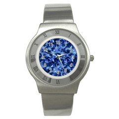 Pattern Factory 23 Blue Stainless Steel Watch