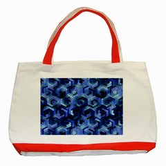 Pattern Factory 23 Blue Classic Tote Bag (Red)