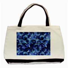 Pattern Factory 23 Blue Basic Tote Bag (Two Sides)
