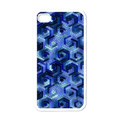 Pattern Factory 23 Blue Apple iPhone 4 Case (White)