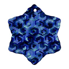 Pattern Factory 23 Blue Snowflake Ornament (Two Sides)