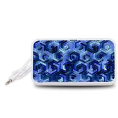Pattern Factory 23 Blue Portable Speaker (White)