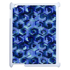 Pattern Factory 23 Blue Apple iPad 2 Case (White)
