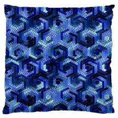 Pattern Factory 23 Blue Large Cushion Case (Two Sides)