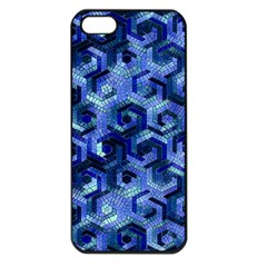 Pattern Factory 23 Blue Apple iPhone 5 Seamless Case (Black)
