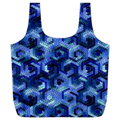 Pattern Factory 23 Blue Full Print Recycle Bags (L)