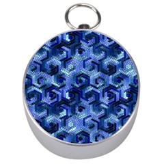 Pattern Factory 23 Blue Silver Compasses