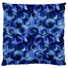 Pattern Factory 23 Blue Large Flano Cushion Case (Two Sides)