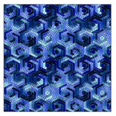 Pattern Factory 23 Blue Large Satin Scarf (Square)