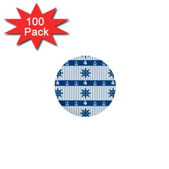 Sea pattern 1  Mini Buttons (100 pack)