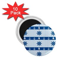 Sea pattern 1.75  Magnets (10 pack)