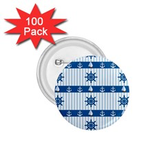Sea pattern 1.75  Buttons (100 pack)