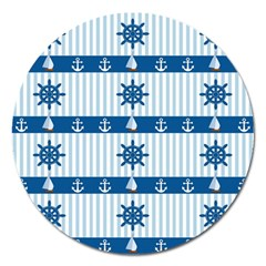 Sea pattern Magnet 5  (Round)