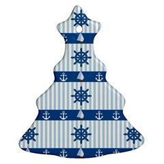 Sea pattern Christmas Tree Ornament (Two Sides)