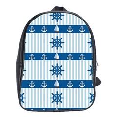 Sea pattern School Bags (XL)