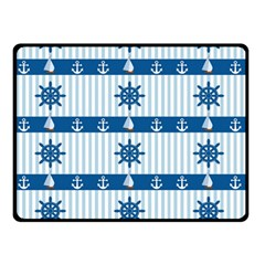 Sea pattern Double Sided Fleece Blanket (Small)