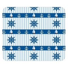 Sea pattern Double Sided Flano Blanket (Small)