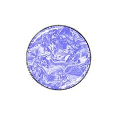 Shimmering Floral Damask,blue Hat Clip Ball Marker