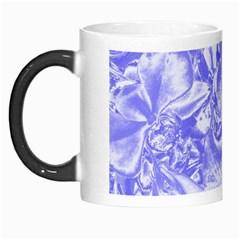 Shimmering Floral Damask,blue Morph Mugs