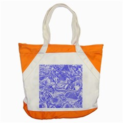 Shimmering Floral Damask,blue Accent Tote Bag