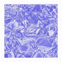 Shimmering Floral Damask,blue Medium Glasses Cloth (2-Side)