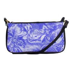 Shimmering Floral Damask,blue Shoulder Clutch Bags